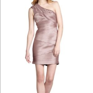 BCBGMaxAzria - Mauve Eden One Shoulder Dress